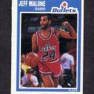 1989-90 Fleer Basketball #160 Jeff Malone - Washington Bullets