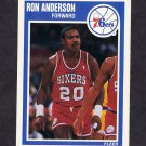 1989-90 Fleer Basketball #112 Ron Anderson RC - Philadelphia 76ers