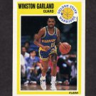 1989-90 Fleer Basketball #053 Winston Garland - Golden State Warriors