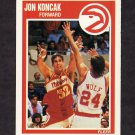 1989-90 Fleer Basketball #002 Jon Koncak RC - Atlanta Hawks