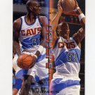 1995-96 Fleer Double Doubles Basketball #04 Tyrone Hill - Cleveland Cavaliers