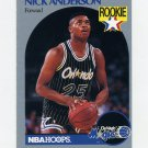 1990-91 Hoops Basketball #214 Nick Anderson RC - Orlando Magic