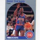 1990-91 Hoops Basketball #111 Isiah Thomas - Detroit Pistons