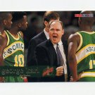 1995-96 Hoops Basketball #193 George Karl CO - Seattle Supersonics
