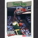 1991-92 Hoops Basketball #497 Shawn Kemp - Seattle Supersonics