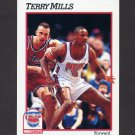 1991-92 Hoops Basketball #401 Terry Mills RC - New Jersey Nets