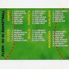 1995-96 Fleer Basketball #198 Checklist