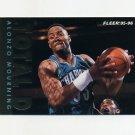 1995-96 Fleer Total D Basketball #04 Alonzo Mourning - Charlotte Hornets
