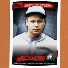 2010 Topps Baseball Peak Performance #021 Jimmie Foxx - Philadelphia Athletics