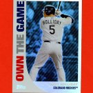 2008 Topps Baseball Own The Game #OTG6 Matt Holliday - Colorado Rockies