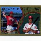 1999 Topps Baseball #444 Pat Burrell RC / Eric Valent RC - Philadelphia Phillies
