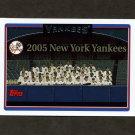 2006 Topps Baseball #284 New York Yankees TC