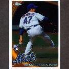 2010 Topps Chrome Baseball #217 Hisanori Takahashi RC - New York Mets