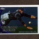 2010 Topps Chrome Baseball #171 Eric Young Jr. RC - Colorado Rockies