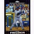 2007 Topps Chrome Refractors Baseball #066 Prince Fielder - Milwaukee Brewers