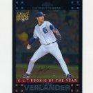 2007 Topps Chrome Baseball #254 Justin Verlander - Detroit Tigers