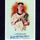 2010 Topps Allen and Ginter Baseball #175 Tim Lincecum - San Francisco Giants