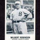 1977-84 Galasso Glossy Greats Baseball #162 Wilbert Robinson MG - Brooklyn Robins