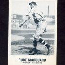 1977-84 Galasso Glossy Greats Baseball #158 Rube Marquard - New York Giants