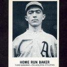 1977-84 Galasso Glossy Greats Baseball #155 Home Run Baker - Philadelphia Athletics