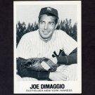 1977-84 Galasso Glossy Greats Baseball #001 Joe DiMaggio - New York Yankees