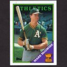 1988 Topps Baseball #580 Mark McGwire - Oakland A's Ex