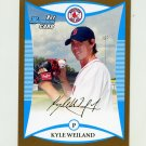 2008 Bowman Draft Prospects Gold Baseball #BDPP057 Kyle Weiland - Boston Red Sox