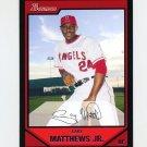 2007 Bowman Baseball #039 Gary Matthews Jr. - Los Angeles Angels