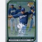 2008 Bowman Chrome Refractors Baseball #207 Hernan Iribarren - Milwaukee Brewers