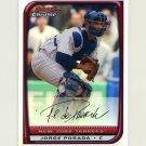 2008 Bowman Chrome Refractors Baseball #086 Jorge Posada - New York Yankees