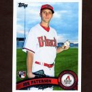 2011 Topps Baseball #604 Joe Paterson RC - Arizona Diamondbacks