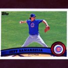 2011 Topps Baseball #564 Jeff Samardzija - Chicago Cubs