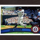 2011 Topps Baseball #550 Joe Mauer - Minnesota Twins