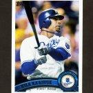 2011 Topps Baseball #527 Kila Ka'Aihue - Kansas City Royals
