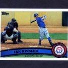 2011 Topps Baseball #405A Ian Kinsler - Texas Rangers