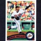 2011 Topps Baseball #381 Michael Gonzalez - Baltimore Orioles