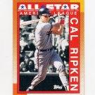 1990 Topps Baseball #388 Cal Ripken AS - Baltimore Orioles Ex