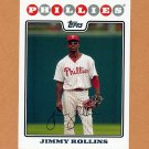 2008 Topps Baseball #030 Jimmy Rollins - Philadelphia Phillies