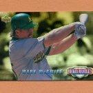 1994 Upper Deck Mantle's Long Shots Baseball #MM13 Mark McGwire - Oakland Athletics