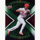 2008 Upper Deck First Edition Star Quest Baseball #SQ48 Jimmy Rollins - Philadelphia Phillies