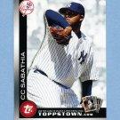 2010 Topps Topps Town Baseball #TTT23 C.C. Sabathia - New York Yankees