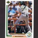 1991 Upper Deck Baseball #174 Mark McGwire - Oakland Athletics