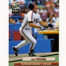 1992 Ultra Baseball #054 Jim Thome - Cleveland Indians