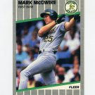 1989 Fleer Baseball #017 Mark McGwire - Oakland Athletics