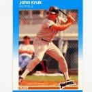 1987 Fleer Baseball #420 John Kruk RC - San Diego Padres
