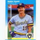 1987 Fleer Baseball #361 Robin Yount - Milwaukee Brewers
