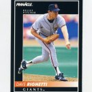 1992 Pinnacle Baseball #082 Dave Righetti - San Francisco Giants