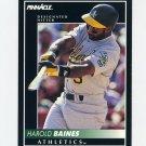 1992 Pinnacle Baseball #041 Harold Baines - Oakland Athletics