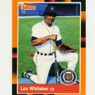1988 Donruss Baseball's Best #315 Lou Whitaker - Detroit Tigers