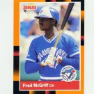 1988 Donruss Baseball's Best #160 Fred McGriff - Toronto Blue Jays